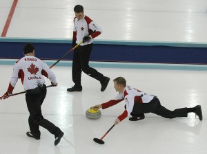 Canadian Curling team in Torino, 2006 Winter Olympic Games.