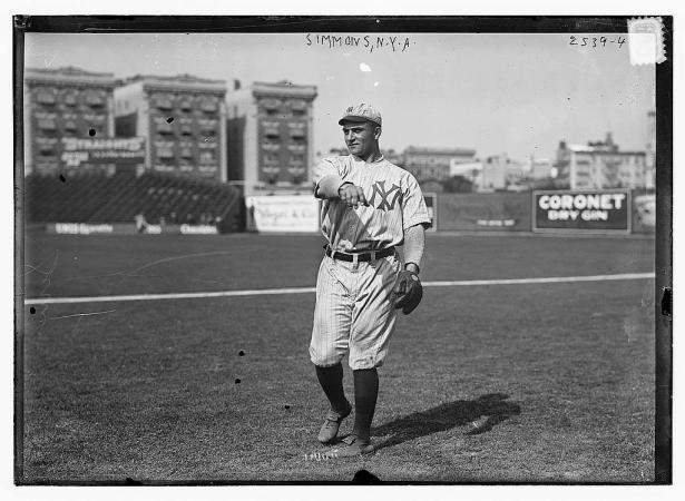 Hack Simmons 1912 Yankees uniform